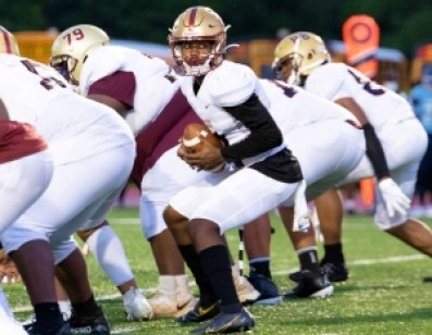 Tucker's Amir Street (with ball) triggers the Tiger offense. The Tigers face off with Southwest DeKalb at 8:00 pm on Friday at Hallford. (Photo by Arielle Hayes)