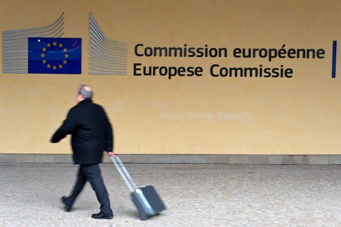 BRUSSELS, BELGIUM - FEBRUARY 25: A man walks past Le Berlaymont on February 25, 2016 in Brussels, Belgium. Brussels is often referred to as the unofficial capital of Europe due to its concentration of pan-European institutions including the European Union (EU) and The Council Of Europe. The United Kingdom will hold a referendum on June 23 to decide whether they will remain part of the EU.  (Photo by Ben Pruchnie/Getty Images)