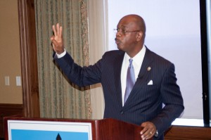 Fulton County District Attorney Paul Howard spoke June 24 at the breakfast meeting of the Buckhead Business Association.