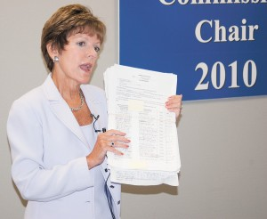 Mary Norwood shows the petition