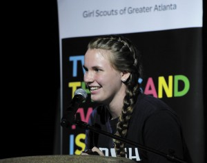Meghan Devine, a Girl Scout from Holy Spirit Preparatory School, has consistently been one of the top cookie sellers in the Atlanta area.