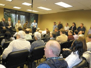 Contractors were eager to hear what the new city had to say about inspections and permits during an open house on Jan. 16.