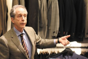 Chip Stockton, president of H. Stockton Atlanta, shows off some of his latest inventory at the  Perimeter store. H. Stockton, a metro area retailer with four locations, sells men's clothing.