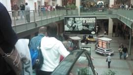 Shoppers ride the escalator at Lenox Square in Buckhead.