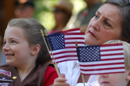 Dunwoody resident  Ariana Wright, 8, attended with her  grandmother, Becky Wright.
