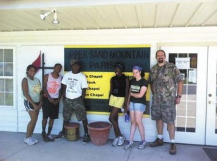 Children from North Springs United Methodist Church visited Alabama in June 2012 to work in the community repairing homes.