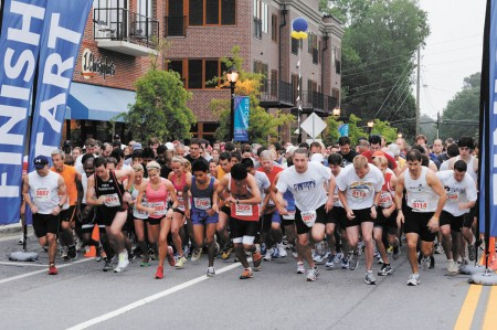 Last year's Brookhaven Bolt drew about 1,300 runners, and this year organizers are hoping for 1,500 participants.