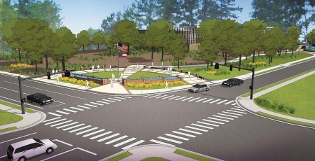 Veterans Park will honor those who served in both World Wars, the Korean and Vietnam wars, and recent conflicts in Iraq and Afghanistan. It will include a walled, contemplative garden, a water feature, seating area and other ammenities.