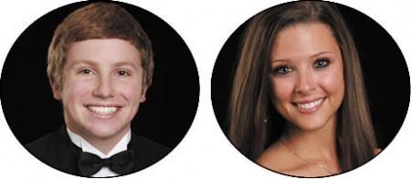 Corey Knapp, left, Valedictorian, University of Georgia Megan McBryde, Salutatorian, U of South Carolina