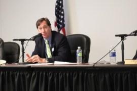 Councilman Bates Mattison during the Aug. 13 City Council meeting.