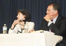 Jane Robbins and Sen. William Ligon (R-Brunswick)