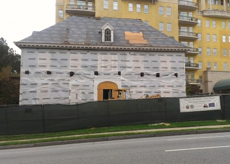 Photo of the Randolph Lucas House on Peachtree Road, taken on Oct. 22, 2013.