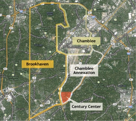 On Nov. 5, voters approved the annexation of a tract of land that includes the Century Center property into the city of Chamblee.