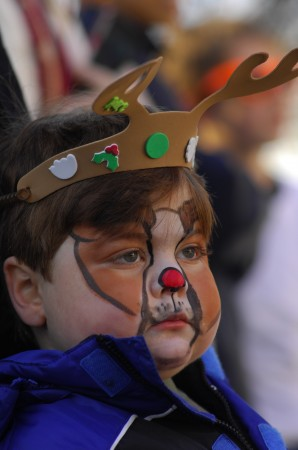 Four-year-old Judd Brown was decked out as Rudolph the Red-nose Reindeer for Light Up Dunwoody on Nov. 24.