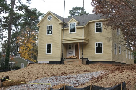The house under construction at 2802 Ashford Road.