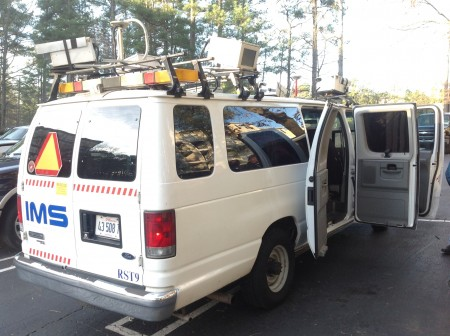 A truck outfitted with special cameras is recording the conditions of the streets of Dunwoody.
