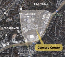 Chamblee says it needs Century Center's tax base to support 11,000 newly-annexed residents. The center's owner wants to be annexed into Brookhaven, so the area remains in legal limbo.