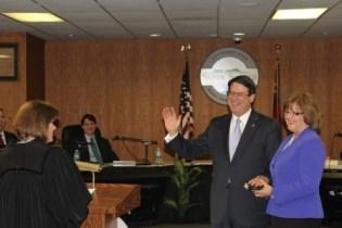 Sandy Springs Mayor Rusty Paul takes the oath of office on Jan. 7, 2014.