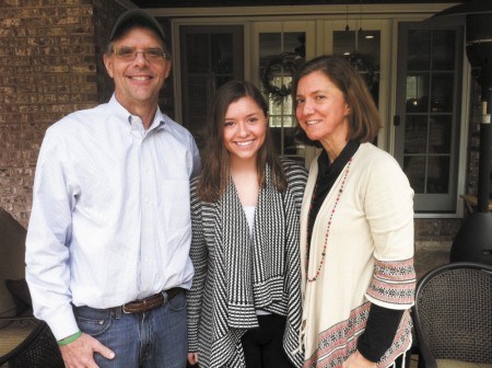 Don Dill, left, and wife Shannon, right, have been saving for their daughter Maddie's college education since her birth. Maddie has applied to 16 colleges.