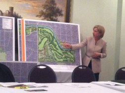 Roxanne Giles Smith, President of the Atlanta Memorial Park Conservancy, talks about upgrades to Bobby Jones Golf Course.