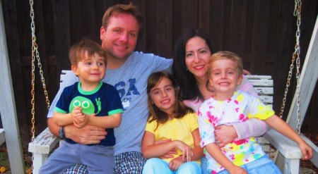 Stan Jester with his wife Nancy and their children. Stan Jester is running for the DeKalb County Board of Education.