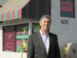 Mark Kick would like to add a second-story addition, extend the Nuts 'n Berries storefront, and include an outdoor cafe.