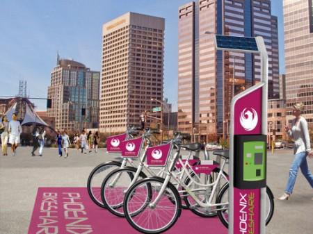 CycleHop's bike share station in Phoenix.