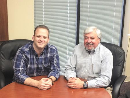Ross Kogon, left, is Pull-A-Part CEO. His family has been in the scrap-metal business for four generations. Steve Levetan, right, is executive vice president of the Doraville-based company, which now has 27 locations nationwide.