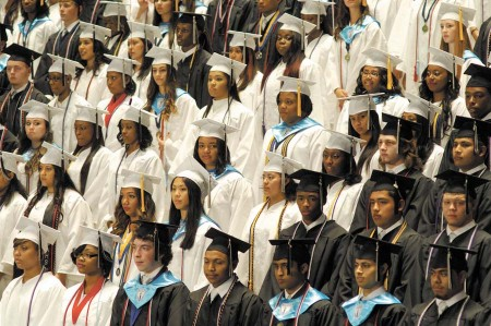 Last year's graduation class from North Atlanta High. File photo