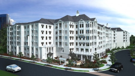 A rendering of The Jane's exterior. Image courtesy Pollack Shores