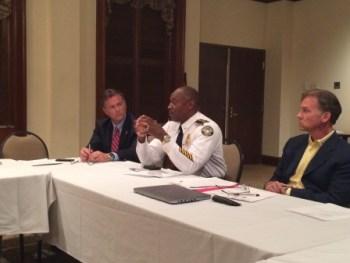 Atlanta Police Chief George Turner addresses the Buckhead Council of Neighborhoods.