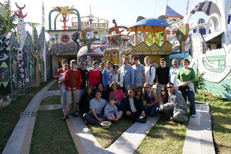 Miriam Saul and her group at Fuster's Folk Art Garden in Cuba.