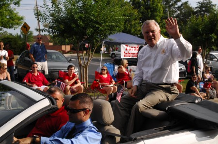 Gov. Nathan Deal served as grand marshal for the Dunwoody Fourth of July parade. Photo by Phil Mosier