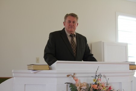 """Ebenezer Primitive Baptist Church's new pastor Gus Harter has big plans to make the church, established in 1829, """"blossom"""" and grow."""