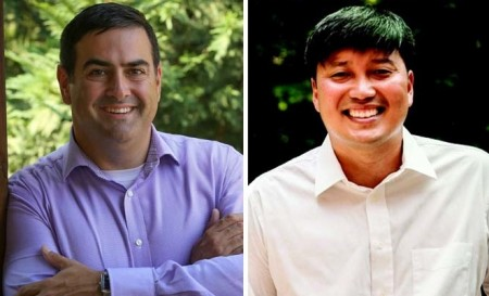 Tim Nama (left) and John Park qualified on Aug. 19 to run for Brookhaven's District 2 city council post.