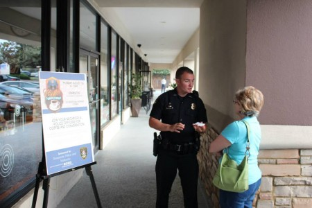 "Dunwoody Police host ""Coffee with a Cop"" at Starnucks in Dunwoody, Georgia on August 18."