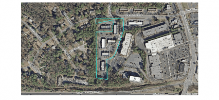 Dunwoody City Council approved the construction of 55 three-story townhomes at 4330 Georgetown Square. The townhomes would replace office buildings and a parking lot.