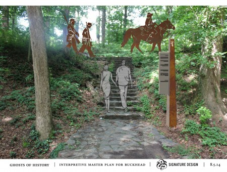 """""""Ghosts of History"""" is one of the concepts Buckhead Heritage has for illustrating the community's past."""