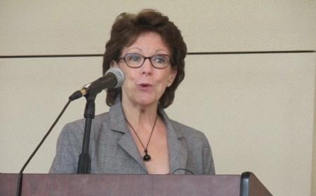 Susan Bennett, the original voice of 'Siri' spoke at a Sandy Springs/Perimeter Chamber of Commerce breakfast Sept. 9.