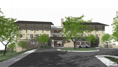A rendering of the new Ronald McDonald House on Peachtree Dunwoody Road.