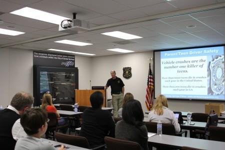 Sandy Springs Police Sgt. Dan Nable teaches teen-parent class.