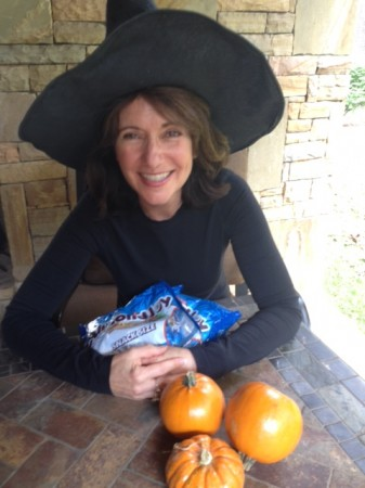 Robin's sons, in high school, will be out snagging candy this Halloween. She hopes they pick up some Almond Joys for her.