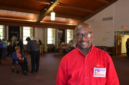 Jimmi Littles, poll manager at the voting place located at St. James United Methodist Church in Buckhead