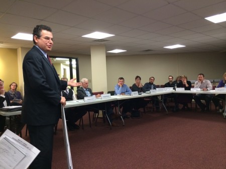 Fuqua Development attorney Steve Rothman makes his case to NPU-B.