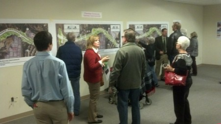 Dunwoody residents view presentations on the city's Georgetown Gateway Project Dec. 11 and provide feedback to city officials. Photo provided by Councilman Terry Nall.