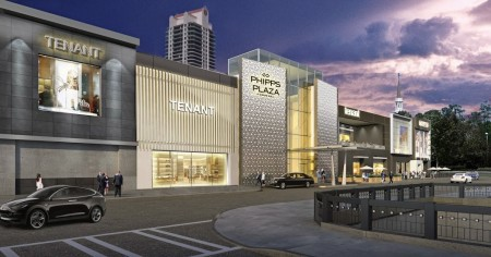 A rendering of the new Phipps Plaza facade.
