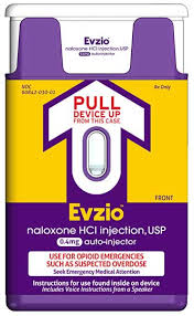 Evzio, a naloxone drug to help counter the effects of opioid drug overdose.