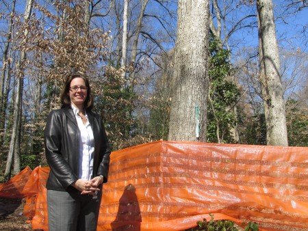 Melissa Bryson is a developer planning four homes for a 3.4-acre parcel on Mabry Road.