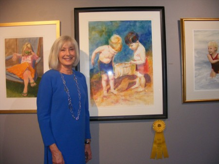 """Daryl Nicholson earned an honorable mention for """"First Catch,"""" her watercolor now on display at the Oglethorpe University    Museum of Art."""