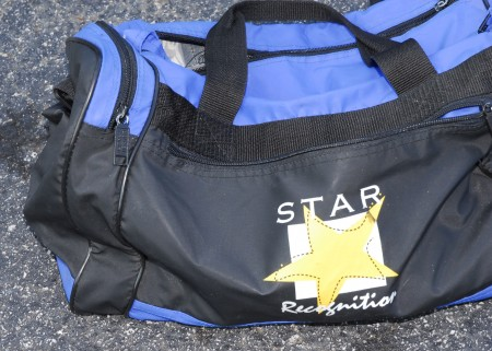 The bag the newborn was found in.